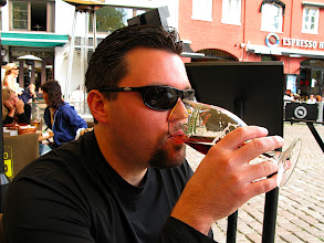 Photo: Erik enjoying a refreshing beverage