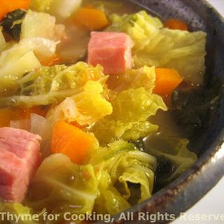 Ham and Savoy Cabbage Soup