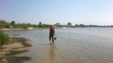 Photo: Mariusz stwierdził, że brodzenie po takiej wodzie to sama przyjemność.