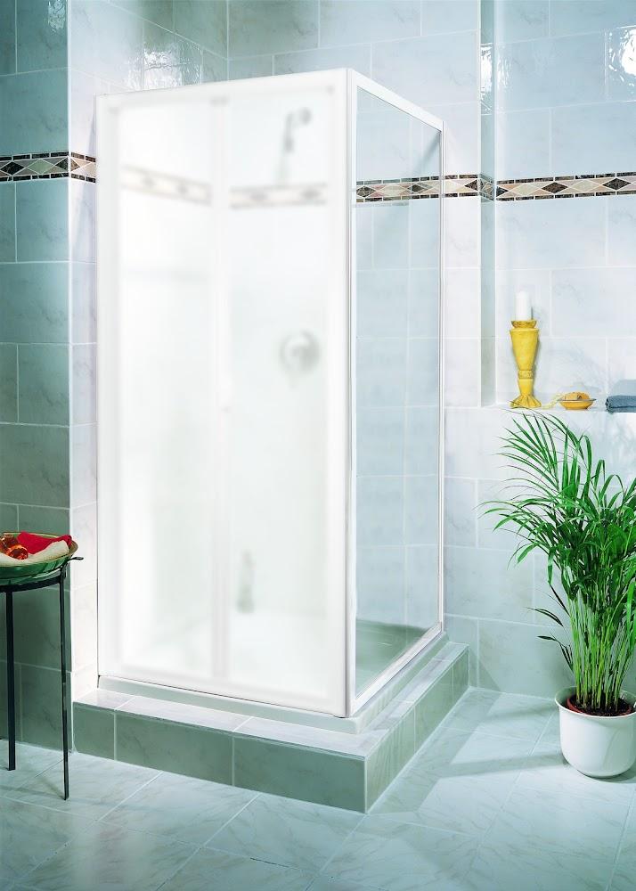 Portes et parois de douche paroi lat rale pour porte de Porte pliante 90 cm transparente