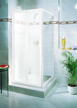 Paroi latérale pour porte de douche pliante, 80 ou 90 cm, Phoenix II