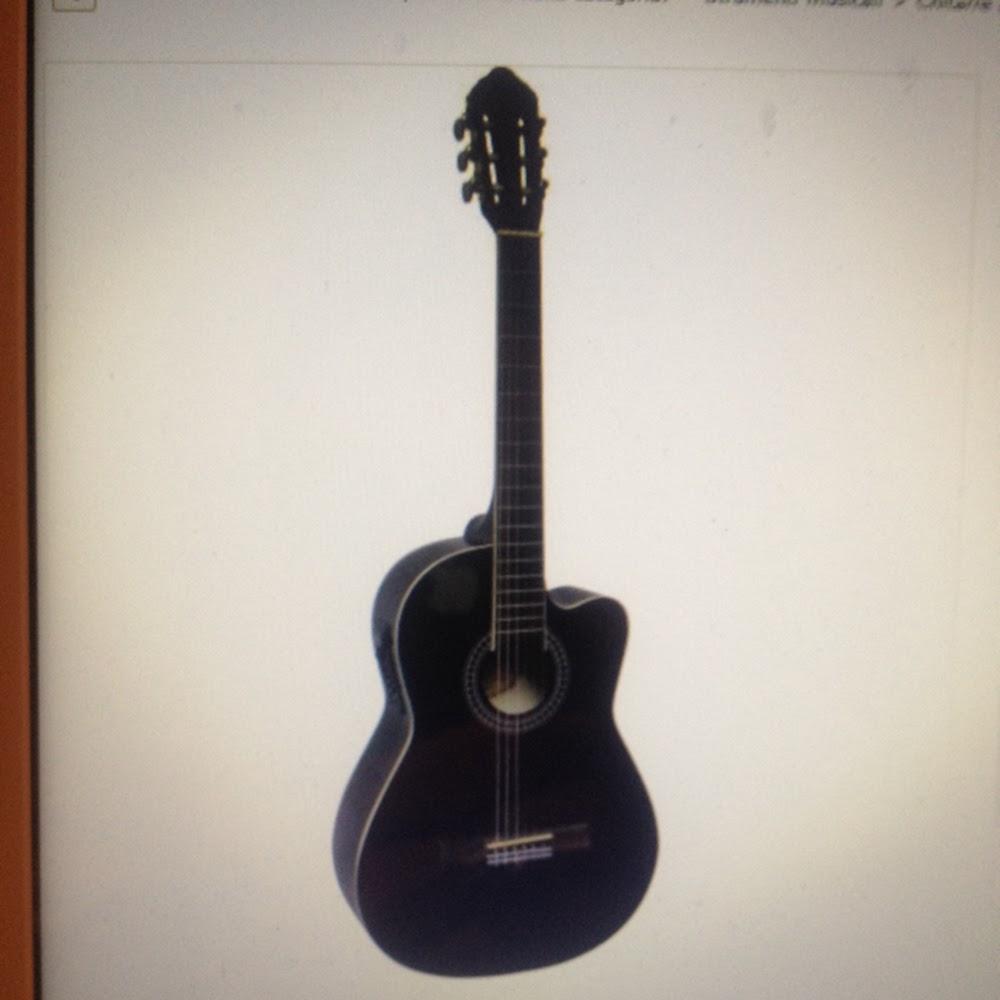 Chitarra classica 4/4 elettrificata nera