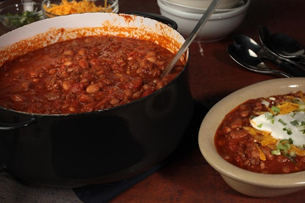 I would let the pot of chili simmer for at least an hour before...