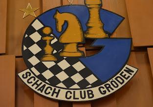 Photo: Logo Schach Club Gröden im Turniersaal