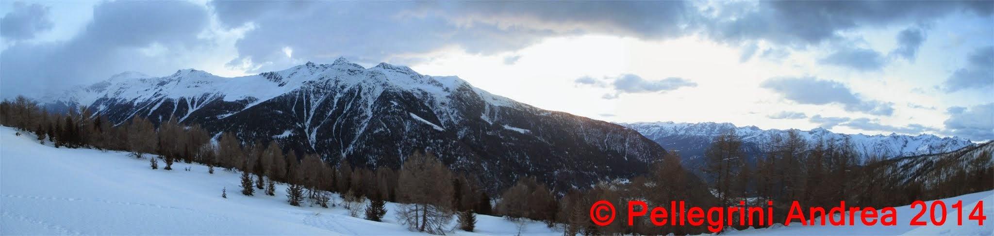 Photo: Panorama 1 dalle cime sopra Cogolo verso sud,dal pianoro 2142