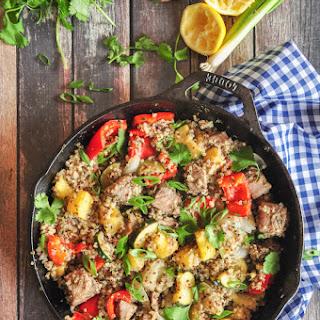 Pineapple Tuna Quinoa Skillet.