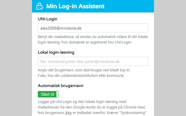 Min Log-in Assistent
