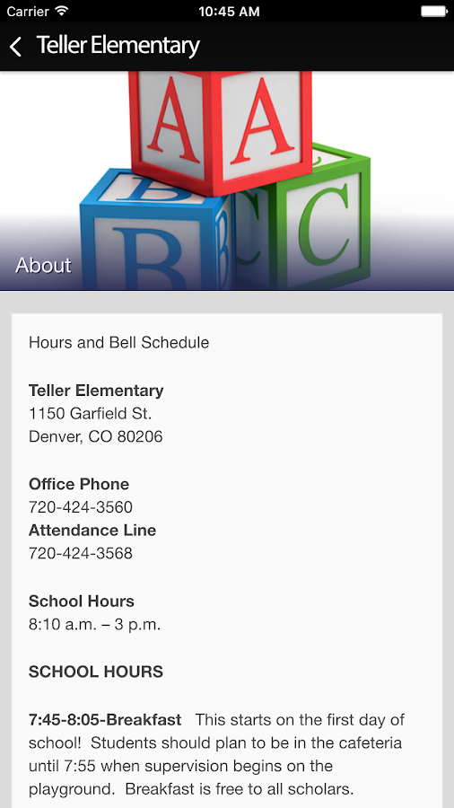 Teller Elementary- screenshot