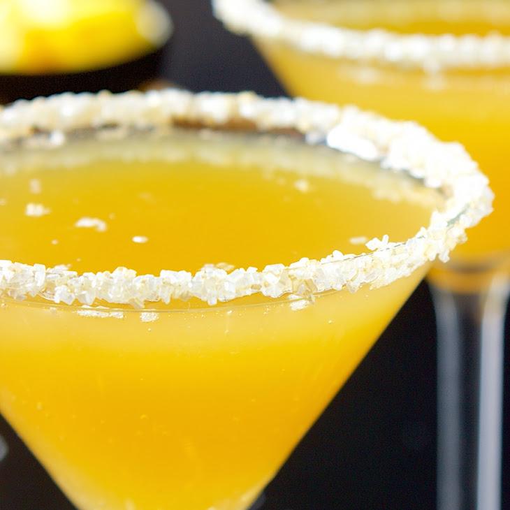 Pineapple Champagne Martini