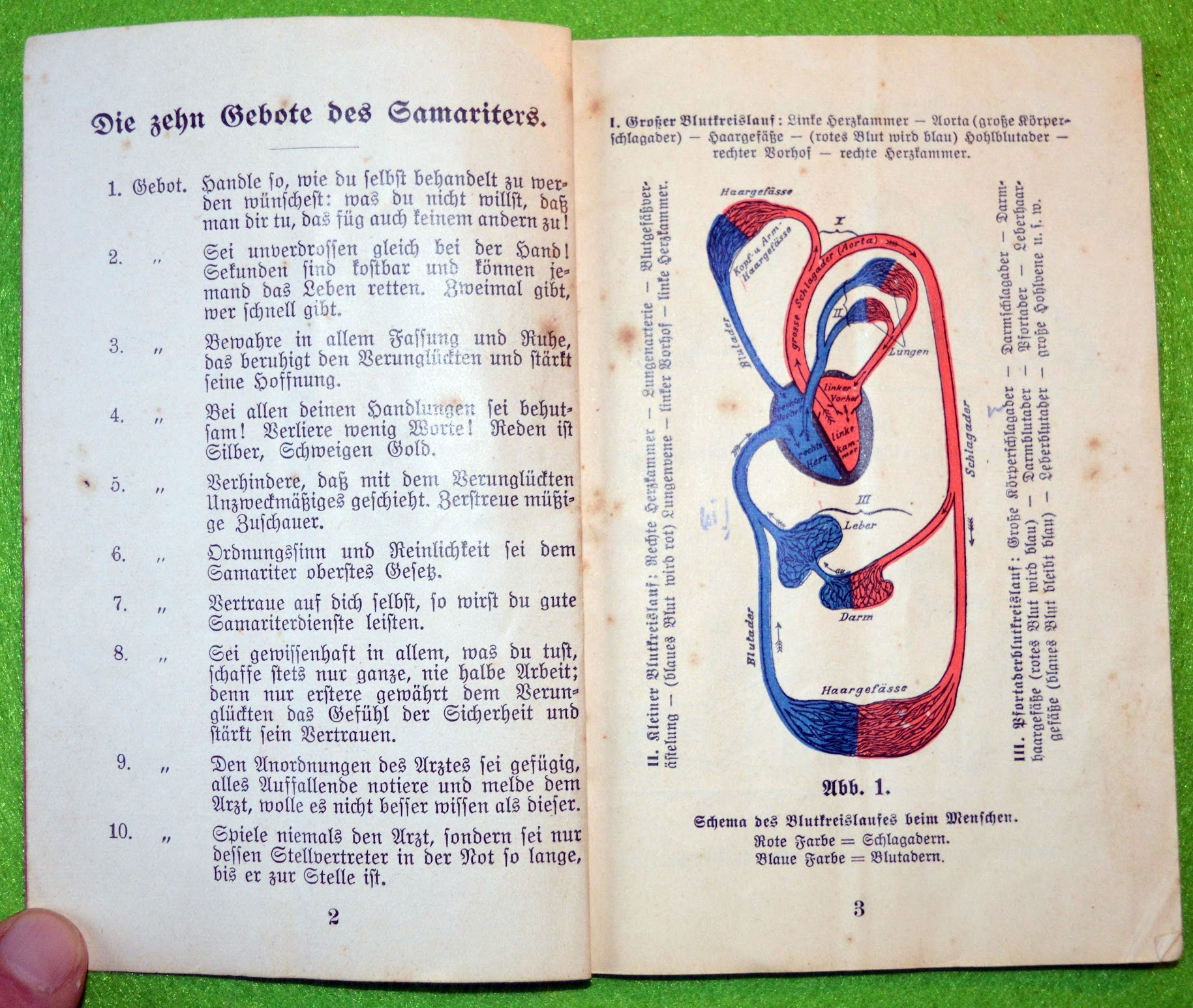 Dr. A. Baur - Das Samariterbüchlein - 1915