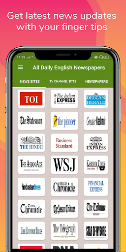 All Daily English Newspaper India in a app Epaper 16.0 screenshots 1