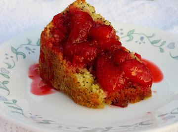 Lemon-poppy Seed Cake W/ Strawberry Rhubarb Sauce Recipe