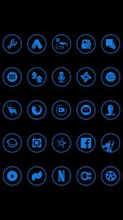 Blue On Black Icons By Arjun Arora - náhled