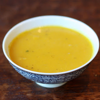 Roasted Kabocha Squash Soup.