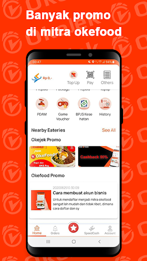 OKEJEK - Ojek Online, Pesan Makanan & Belanja 4.0.3 Screenshots 4
