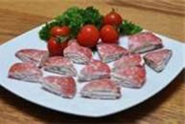 Salami And Cream Cheeses Wedges Recipe
