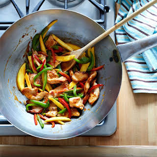 Stir-Fried Chili Mango Chicken with Peppers.