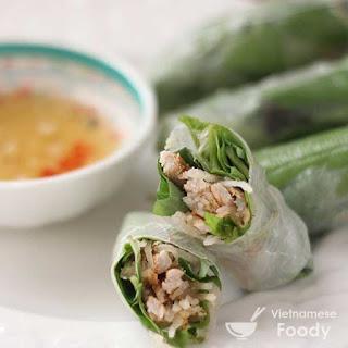 Vietnamese Pork Rice Paper Rolls (Bi Cuon)