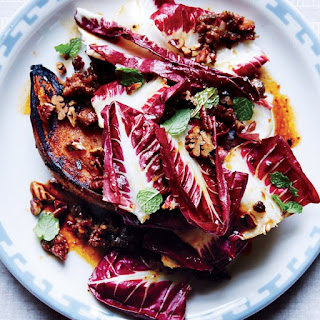 Seared Sweet Potatoes with Sausage and Radicchio