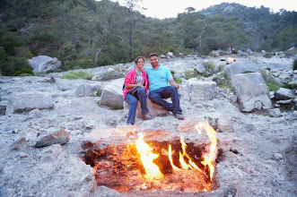 Photo: The naturally occurring, eternal camp fires at Mount Chimaera