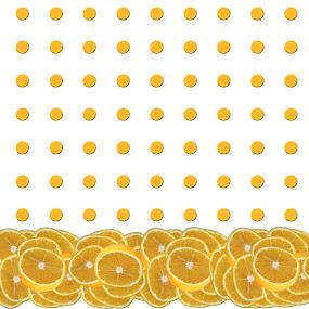 Orange polkadot repeat by Annalie Coetzer - Digital Art Things ( orange, fruit, food, healthy, oranges, repeat, polkadots,  )