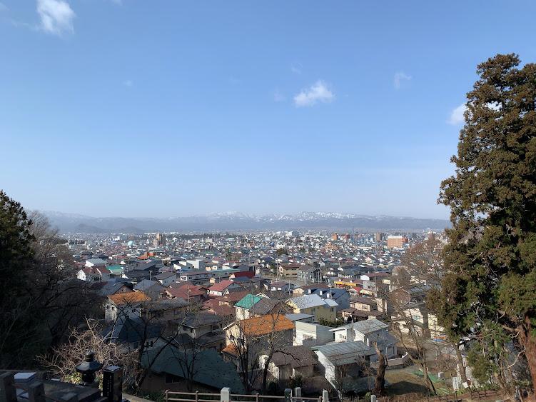 飯盛山から見た会津若松市内