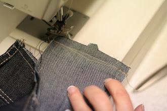Photo: Waistband's new CB seam  Nouvelle couture milieu dos de la ceinture