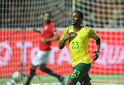 Orlando Pirates' star attacker Thembinkosi Lorch celebrates the goal that gave South Africa a win and a place in the quarterfinals of the 2019 Africa Cup of Nations.