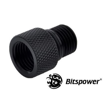 """Bitspower adapter til Eheim pumpe, 1/4""""BSP til 1/4""""BSP, Matt Black"""