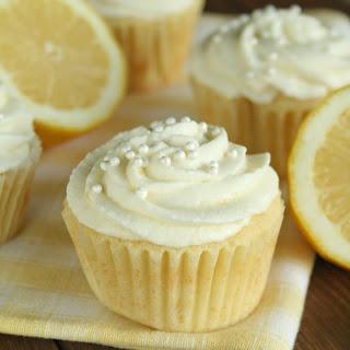 Lemon Cupcakes with Lemon Mousse Frosting.