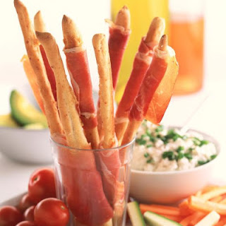Parmesan Breadsticks with Parma Ham and Herbed Ricotta
