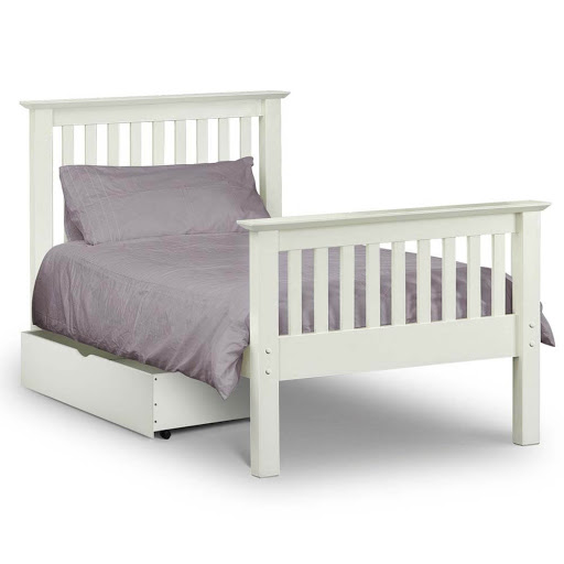 Julian Bowen Barcelona White High End Bedstead