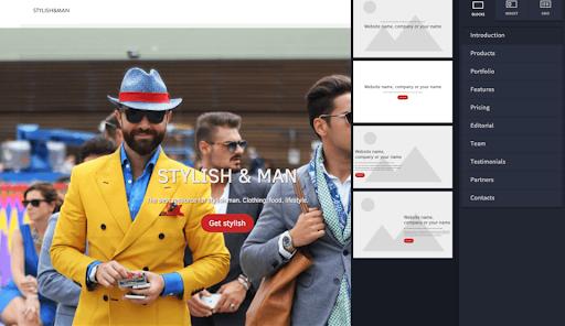 Créer un site one page