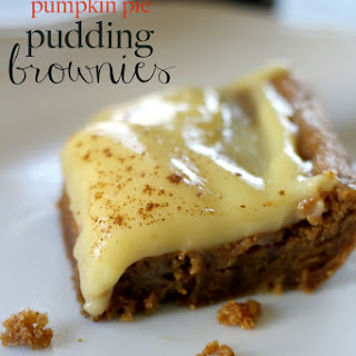 Pumpkin Pie Pudding Brownies