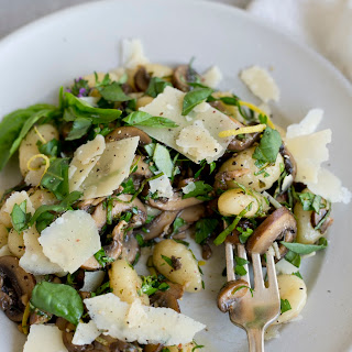 Herbed Gnocchi and Mushrooms