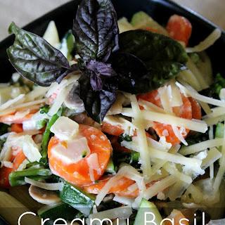 Creamy Basil Veggie Pasta