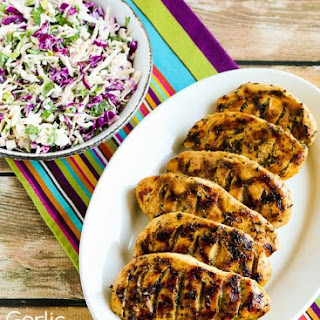 Garlic, Lemon, and Herb Grilled Chicken Breasts.