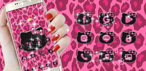 Pink Kitty Shine Leopard Cute Kitten Theme for PC