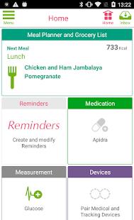 Diabetes App - myDiabeticAlert - náhled