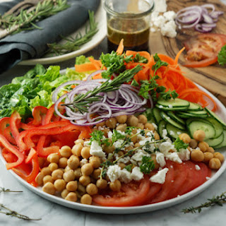 Chickpea and Feta Cheese Salad