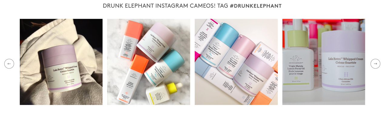 Example of UGC for Drunk Elephant
