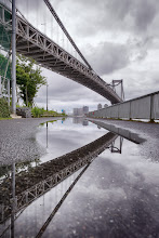 Photo: Rainbow Bridge, Reflected  This was actually shot during the G+ 3 year anniversary photowalk, but I wanted to put it in its own post, rather than lumping it together with my other shots from that day (^^;  I almost didn't get this shot - just as I was preparing to shoot, it started raining, ruining the reflection in the water. I started walking away, but after a few seconds, I noticed the rain was already starting to taper off, so I retraced my steps, set my camera as low as I could (without actually dipping it in the water), and fired off a couple frames. Kinda like how it turned out :)  Goodnight from Tokyo!  #cooljapan  #100tokyo  #rainbowbridge  #Japan  #Tokyo  #gplus3yearanniversary  #gplus3yearpw_tokyo  #gplusphotowalkjapan