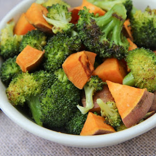 Roasted Broccoli and Sweet Potatoes...Yes Please!.