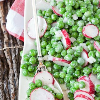 Pea Salad with Radish and Dill Recipe