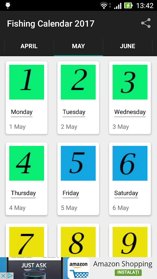 Fishing solunar calendar android apps on google play for Solunar fishing charts