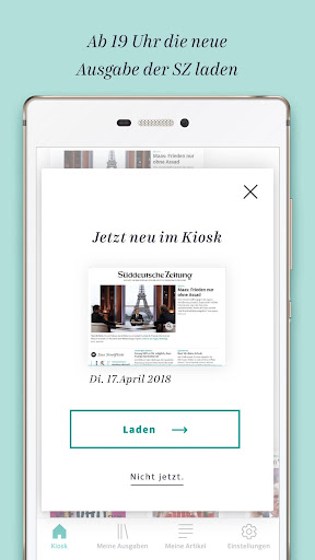Süddeutsche Zeitung Zeitungsapp 4.1 screenshots 3