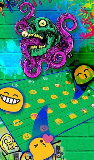 Zombie Skull Graffiti Keyboard Theme 6.5.9 screenshots 4