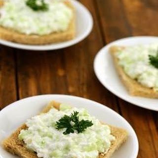Cottage Cheese and Cucumber Sandwich.