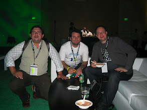 Photo: Sebastian Esponda (Globant), Bruno rovagnati (Globant), Chris Chabot: the Shindig PHP team!