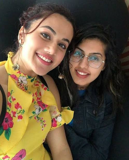 Taapsee Pannu with her sister Shagun Pannu